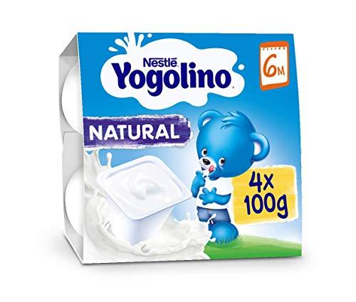 Nestlé Yogolino Natural a Partir de 6 Meses, 4 x 100g