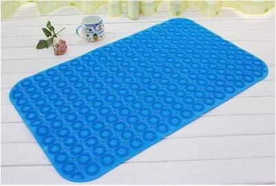 zfq Badezimmer Mit Badewanne Kissen Kissen Boden Fußsucker Kann Massage Fuß PVC-Bad Anti-Schleuder 90cm*60cm Real Blue