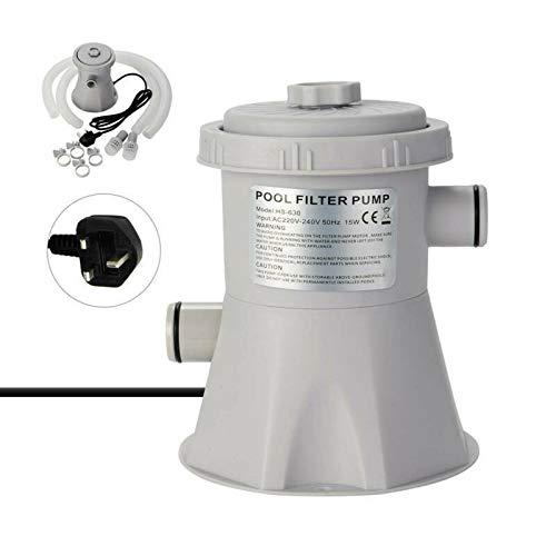 ConPush Filterpumpe Poolfilter Filterkartuschenpumpe Filter Pumpe Pool 300 gal/h 220 V 20 W