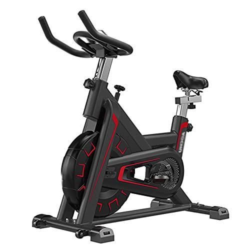 Spinning Bike Bicicleta Estática para El Hogar, Bicicleta Estacionaria De Interior con Resistencia Ajustable, Spin Bike con Volante Pesado Y Cómodo Sillín, Negro