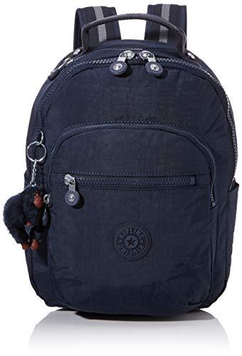 Kipling SEOUL GO S Mochila escolar, 35 cm, 14 litros, Azul (True Blue Tonal)