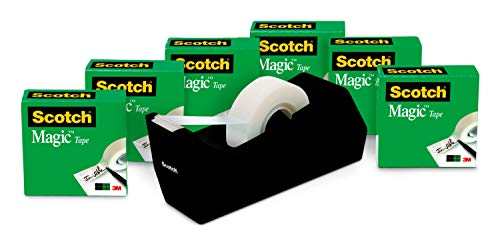 Scotch Magic Tape, 6 Rolls with Dispenser, Numerous...
