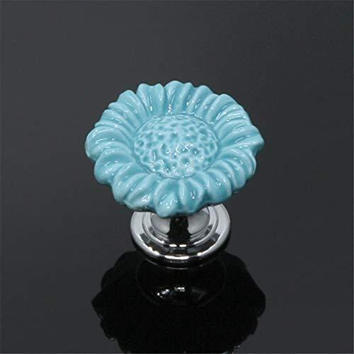 Keramisch handvat met schroeven 10 stuks keramische kast handgrepen voor meisjes. Stabiele bloemenhandgreeplades voor het aankleden van tafelmeubels, deuren van goede kwaliteit met bloemenhandgrepen dressoir voor laden