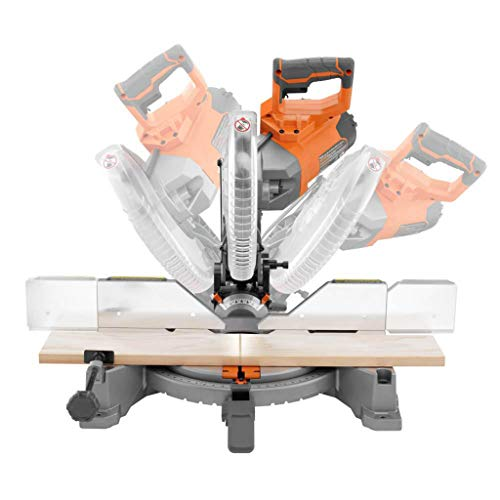 RIDGID 10 in. Dual Bevel Miter Saw with LED