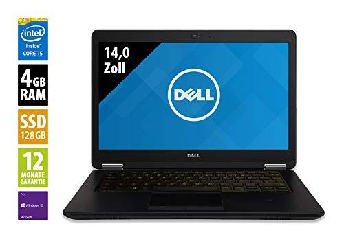 Dell Latitude E7450 | Notebook | 14,0 Zoll | Core i5-5300U @ 2,3 GHz | 4GB RAM | 128GB SSD | FHD (1920x1080) | Webcam | Windows 10 Pro (Zertifiziert und Generalüberholt)
