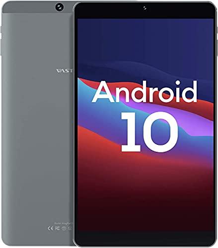 Tablet 8 Pollici, Android 10.0, Processore Kingpad SA8 Vastking Octa-Core, 3 GB di RAM, 32 GB Spazio di Archiviazione, IPS 1920x1200, Wi-Fi 5G, GPS, Fotocamera da 13MP, Grigio Argento