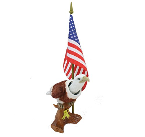 Batty Bargains Patriotic Bobblehead Eagle with Car Dashboard Adhesive and American Flag