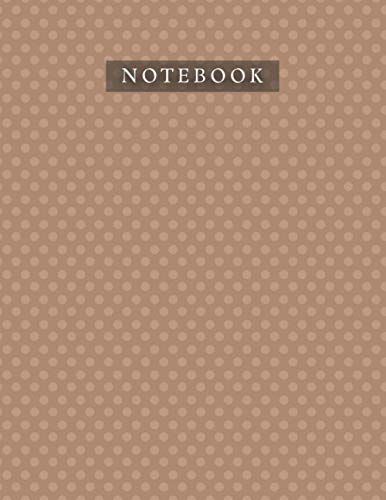 Notebook Saddle Brown Color Polka Dots Baby Elephant Pattern Background Cover: Organizer, Daily, 21.59 x 27.94 cm, A4, 110 Pages, Life, Bill, 8.5 x 11 inch, Planner, Journal