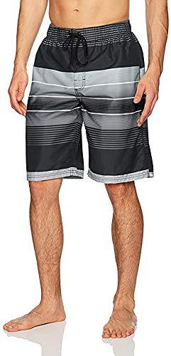 Kanu Surf Men's Swim Trunks (Regular & Extended Sizes), Echelon Black, Medium