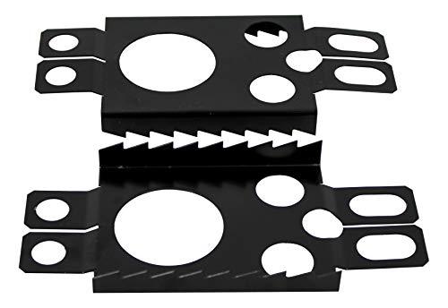 Crossblades Schneeschuh Harscheisen, 1 Paar, Schwarz, für Softboot oder Hardboot
