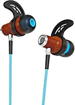 Symphonized NRG 2.0 Bluetooth Wireless Wood In-ear Noise-isolating Headphones, Earbuds, Earphones with Mic & Volume Control (Turquoise)