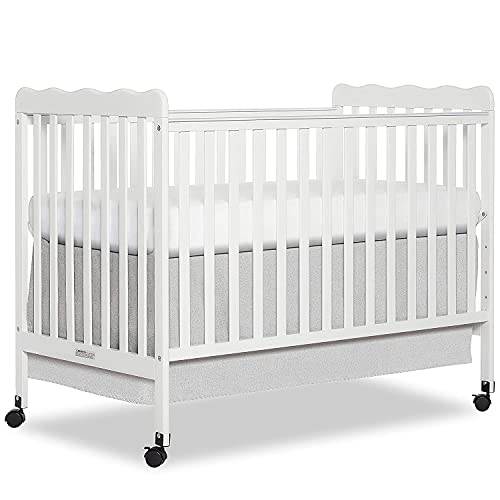 4-in-1 Convertible Crib Contemporary 2 Tone Design Non-Toxic Finish Converts into Full-Size Bed Adjustable Mattress Height Fits Standard Crib Mattress (White)