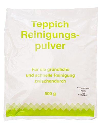 Teppichreinigungspulver geeignet für Vorwerk Teppichreiniger mit Zitrusduft 500 Gramm für ca.20qm