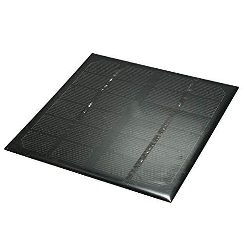 YEZIB Accesorios electrónicos de Bricolaje, Paneles solares monocristalinos portátiles con Caja de conexión USB 3w 6v