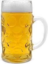 Libbey Borgonovo Oktoberfest Glass Masskrug 16.9 Ounce Dimpled Glass Beer Stein Mug