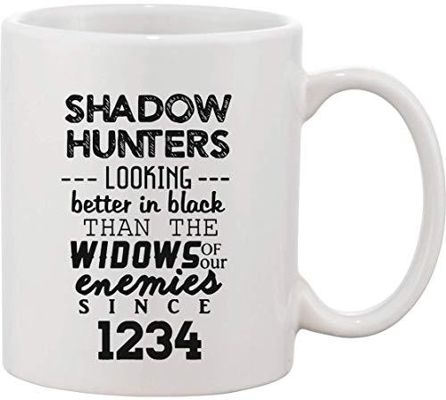 Taza de cerámica con diseño de cazadores de sombras con aspecto mejor, color negro que las viudas de nuestros enemigos desde 1234, bnft