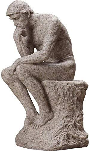 Escultura,Estatua Grande De Pensador, Figura De Piedra Arenisca De Resina, Decoración De Feng Shui, Escultura, Jardín, Hogar Y Oficina, Regalo De Negocios