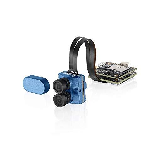 Alician New For Caddx For Tarsier 4K 30fps 1200TVL Lente Dual Super WDR WiFi Mini cámara FPV Grabación HD DVR Audio Dual OSD para RC Racing Drone Azul