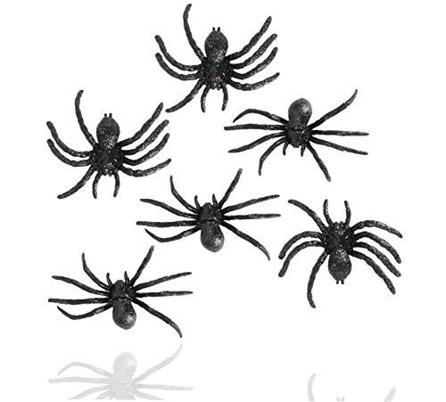 TK Gruppe Timo Klingler 20x Spinnen Set zu Halloween als Grusel Deko & Dekoration für Haus, Tisch & Garten - Spinnendeko