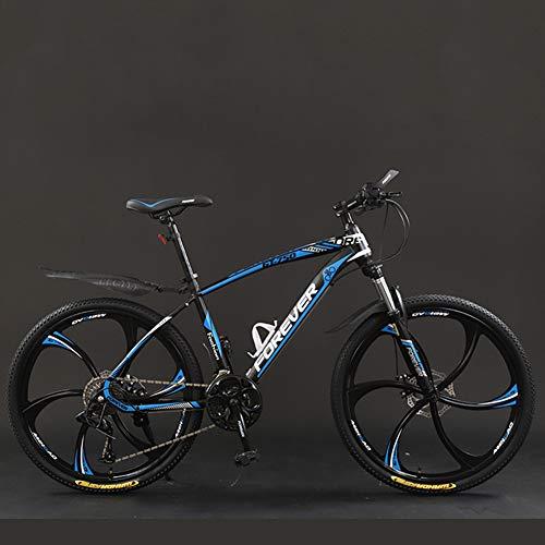 CJF 26 Pouces VTT Lightweight Gearshift Vélo avec Siège Réglable, Double Frein À Disque pour Adultes, Hommes, Femmes (21 Vitesses),C