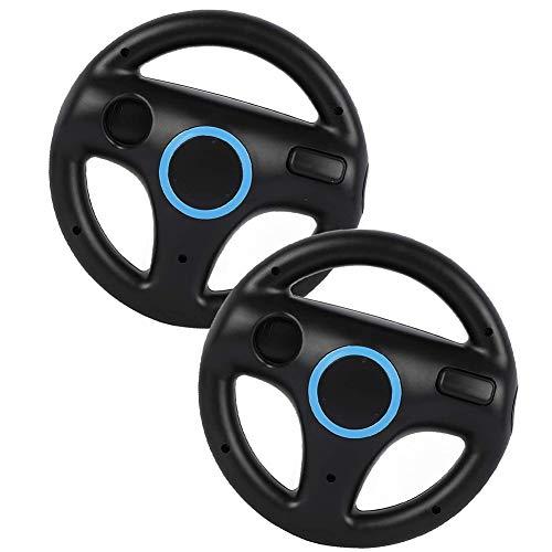Hieefi 2PCS Racing Wheel Race Gaming sillas Volante Wii Controlador Rueda de Juego Compatible con Wii Juego Remoto Negro