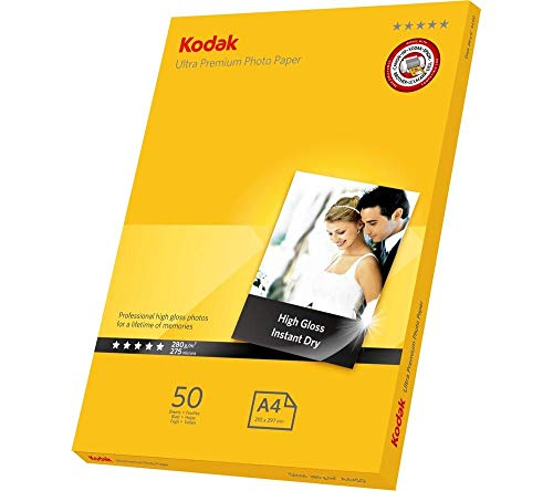 Kodak - Papel Kodak Premium Photo Paper RC Gloss a4 (50 uds) 280g