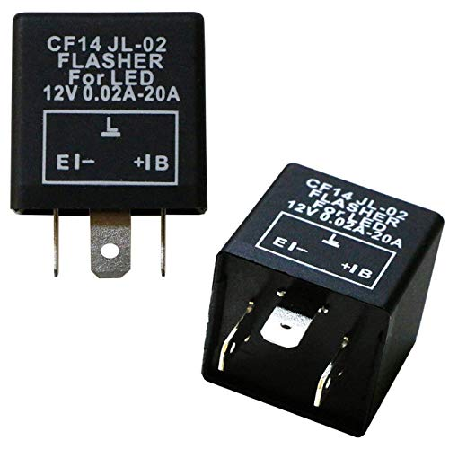 iJDMTOY (1) 3-Pin CF14 EP35 Electronic LED Flasher Relay As LED Related Turn Signal Bulbs Hyper Flash Fix