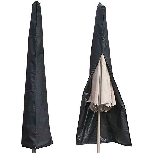 Isincer - Funda para sombrilla de patio de 600 D, impermeable, resistente a los rayos UV, cubierta de cremallera, para sombrillas de jardín de 6 pies a 11 pies (190 x 50 x 30 cm)