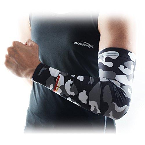 COOLOMGアームカバーアームスリーブアームウォーマー腕サポーターパワーストレッチuvカット冷感メンズレディース迷彩2本セットXXS-XL