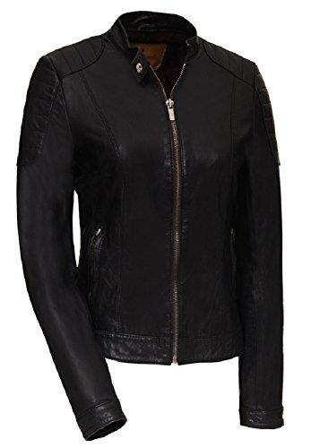 Goosecraft Damen Biker128 Jacke, Schwarz (Black), XX-Large