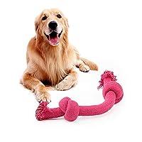 SHUHAO ペット用品ノットロープ犬のおもちゃキャンディカラーのおもちゃクリーン歯ツールを噛ん (Color : Random, Size : L)