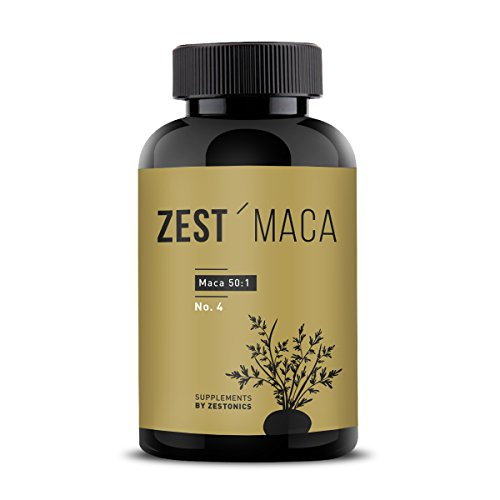 ZEST'MACA: Das stärkste Maca Deutschlands: 31.000mg pro Kapsel - 3,6 kg Maca pro Dose. Maca hochdosiert im 50:1 Extrakt - Maca konsumieren wie im Herkunftsland Peru - 120 Kapseln für 2 Monate