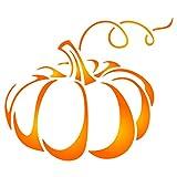 Halloween Pumpkin Stencil, 7 x 6 inch (L) - Decorative Vegetable Pump Kin Stencils for Painting Template