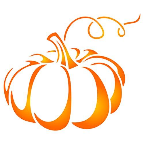Kürbis Schablone–wiederverwendbar Urlaub Halloween Gemüse Wand Schablone–Vorlage, auf Papier Projekte Scrapbook Tagebuch Wände Böden Stoff Möbel Glas Holz etc. Größe S