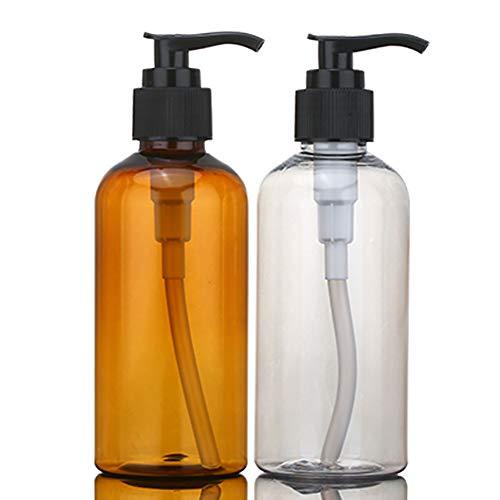 quanju cheer 100/150/200 ML Lotion Shampooing Gel Douche Rechargeable Flacon Distributeur Récipient de Stockage Quotidien, Marron, 150 ML