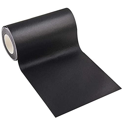 Panngu Negro ReparacióN De Cuero Parches, Autoadhesivo Parche De Cuero - para Asiento de Coche, Muebles, Chaqueta, Sofá, Mochila, Rasgaduras, Manchas. 7,6 x 152 cm