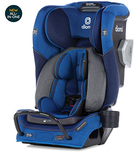 Diono Radian 3QXT Latch, All-in-One Convertible Car Seat, Blue Sky