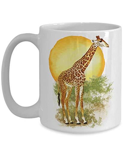 Taza De Porcelana April The Giraffe Acuarela Sunset Reloj Para Bebé Regalo 330 Ml Compañero De Trabajo De Porcelana Amigos De Moda Taza Unisex Taza De Café Familiar Taza De Cerámic