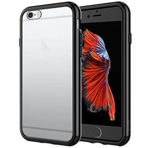 JETech Case Compatible with iPhone 6 Plus and iPhone 6s Plus 5.5-Inch, Shock-Absorption Bumper Cover, Anti-Scratch Clear Back (Black)