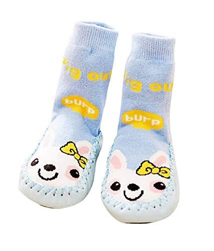 KIRALOVE Calcetines antideslizantes para bebés - abrigados - estampados - conejo - niños pequeños unisex