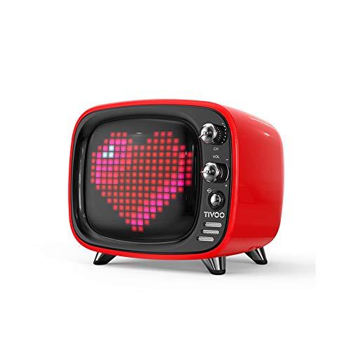 WHALLO El último Altavoz Bluetooth Pixel Retro pequeño TV Personalidad Creativa Caja de Regalo de cumpleaños Personalizada para Amigos y compañeros de Clase