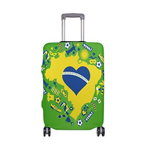 Copertura per valigia con motivo mappe e elementi del Brasile