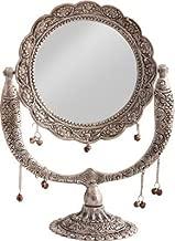WebelKart Jaipurcrafts Aluminium Antique Mirror (12-inch; Silver)