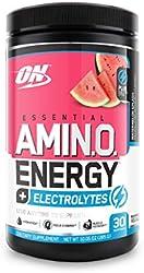 Optimum Nutrition Amino Energy + Electrolytes - Pre Workout, BCAAs, Amino Acids, Keto Friendly, Ener