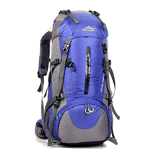 Phil Beauty Hiking Backpack 50L Waterproof Travel Backpack Trekking Rucksack Mountaineering Backpack Outdoor Travel Bag Comfortable And Breathable for Men And Women,Blue 1