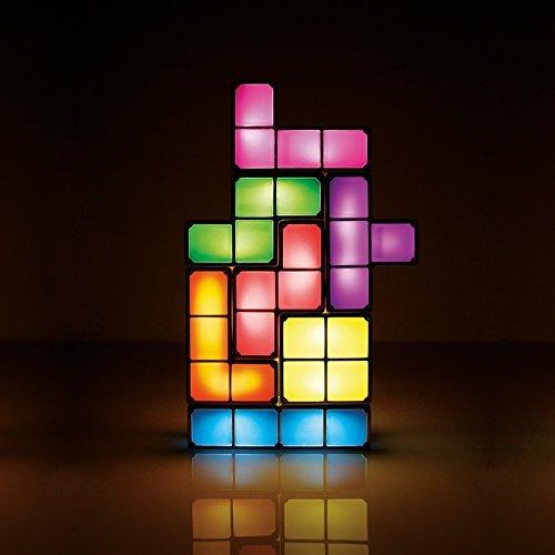 KMY-LIGHTING Tetris Light LED 7 Pack Lámpara de Mesa Lámpara de Escritorio Tetris Building Blocks Night Light para Boy Girl Children Home Decor