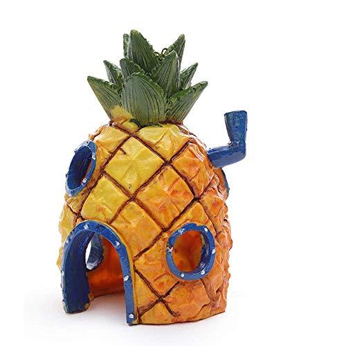 DYRCJ Aquarium Ananas Haus Fisch Und Garnelen Vermeiden Die Höhle Kreative Aquarium Dekorationen Kinderspielzeug Dekorationen
