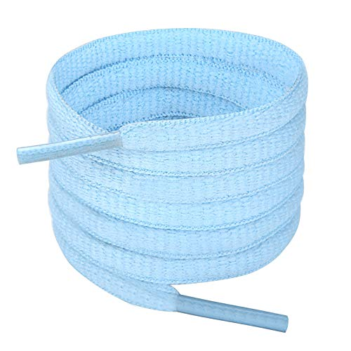 Handshop Half Round Shoelaces 1/4' - Oval Shoe Laces Replacements For Sneakers and Athletic Shoes Sports Baby Blue 45.3 inch (115cm)