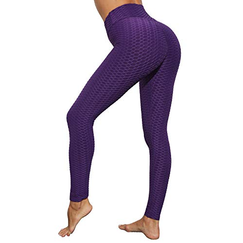 Iuulfex Workout Leggings Women Booty Yoga Pants Scrunch Butt Lifting Leggings Textured Sexy Anti Cellulite Compression High Waist Slimming Tummy Control Fitness Sport Gym Tights Push Up