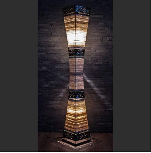 Asiatische Stehleuchte 150cm Designer Stehlampe Naturlampe Leuchten Bali Deko (L4)